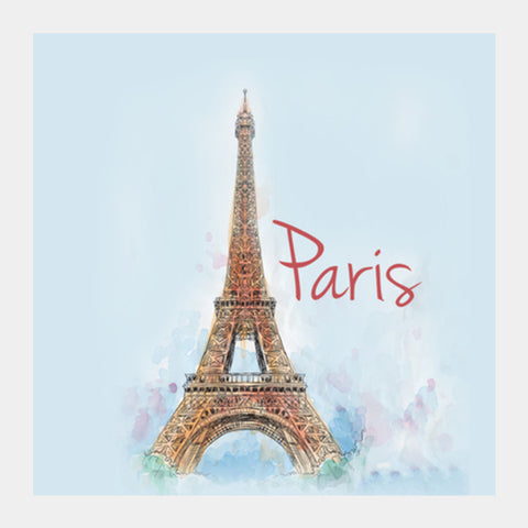 Square Art Prints, Love From Paris Square Art Prints | Artist : Pranit Jaiswal, - PosterGully