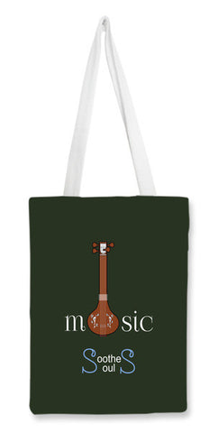 Tote Bags, Music Soothes Souls Tote Bags | Artist : Kavin Natarajan, - PosterGully