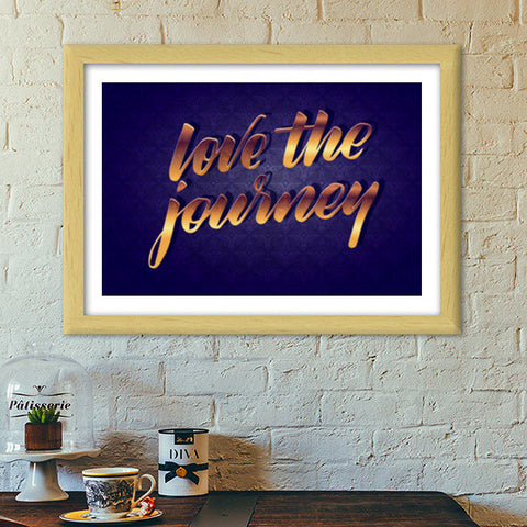 love the journey Premium Italian Wooden Frames | Artist : abhijeet sinha