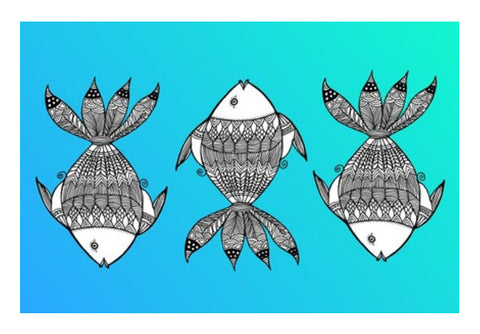 Fish Patterns Wall Art  | Artist : Amulya Jayapal