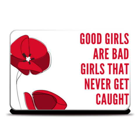 Good Girl Bad Girl Laptop Skins | Artist : PUJA KUMAR