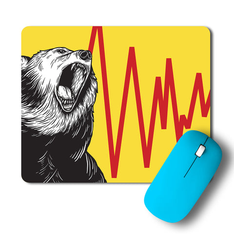 Angry Bear Artwork Mousepad