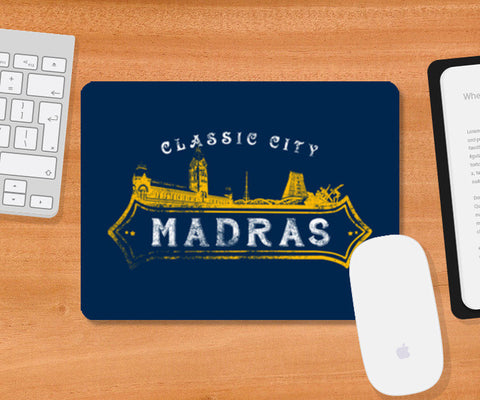 Classic City Madras | Click on It Mousepad | Artist : Ramkumar Kolappan