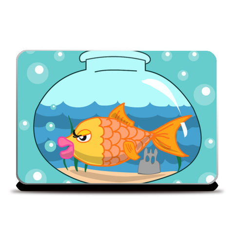 Laptop Skins, Fish bowl Laptop Skins | Artist : Anuj Goyal, - PosterGully