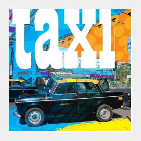 Square Art Prints, Taxi Square Art Prints | Artist : Pradeesh K, - PosterGully