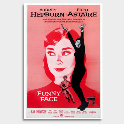 Funny Face Audrey  Giant Poster | Artist : Scatterred Partikles
