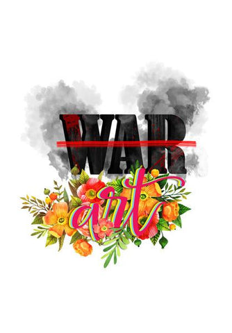 PosterGully Specials, Stop war-Make art Wall Art | Artist : Abhishek Faujdar, - PosterGully
