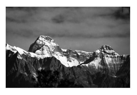 PosterGully Specials, Nanda Devi Mountain Wall Art  | Artist : Avadhesh Malik, - PosterGully