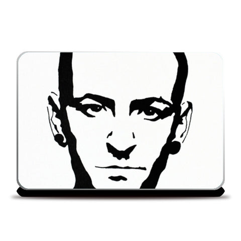 Chester Bennington Ink Laptop Skins | Artist : Ajay Varma
