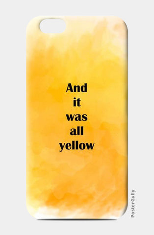 COLDPLAY : YELLOW iPhone 6/6S Cases | Artist : Kau.Vish