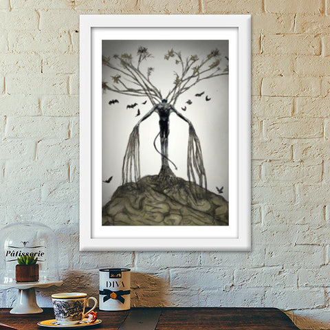 The Tree of Lust Premium Italian Wooden Frames | Artist : kapil Verma