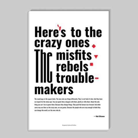 Crazy Ones Stick Ons | Artist : Scatterred Partikles