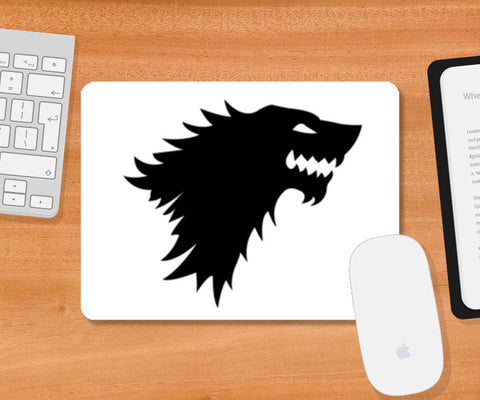Game Of Thrones, Starks, Winter Is Coming, Direwolf, John Snow Mousepad | Artist : Nihal Dad Khan