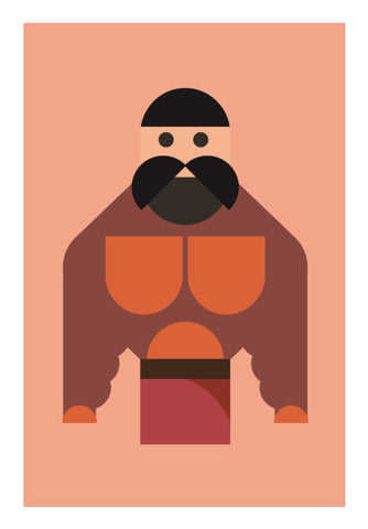 Strong Man Geometric Art Art PosterGully Specials