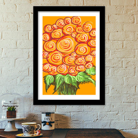 Premium Italian Wooden Frames, Swirls and flowers ! Premium Italian Wooden Frames | Artist : Shakthi Hari, - PosterGully - 1