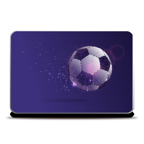 Football Artwork With Shining Lights | #Footballfan Laptop Skins | Artist : Creative DJ