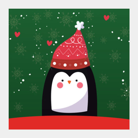 Happy Holidays Square Art Prints | Artist : Ayushi Jain