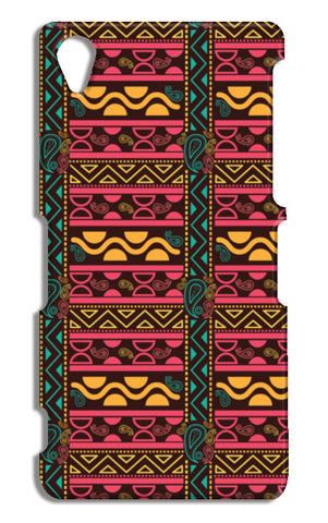 Abstract geometric pattern african style Sony Xperia Z2 Cases | Artist : Designerchennai