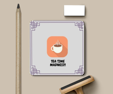 PosterGully Coasters, Tea Time Madness Coasters | Artist : Pallavi Rawal, - PosterGully