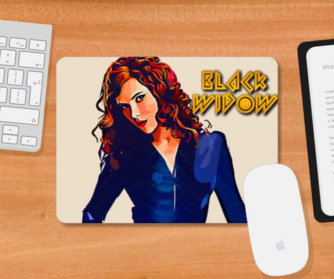 Black widow Mousepad | Artist : Delusion