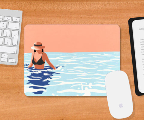 Smell the sea, feel the breeze, hear the ocean, be at ease. Mousepad | Artist : devika art