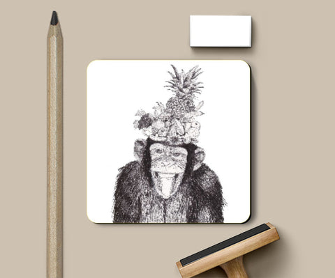 Coasters, Chill Monkey Coaster | Artist: Vinayak Dasari, - PosterGully