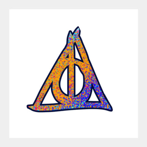 Square Art Prints, Deathly Hallows Harry Potter Square Art Prints | Artist : Dev Ballal, - PosterGully