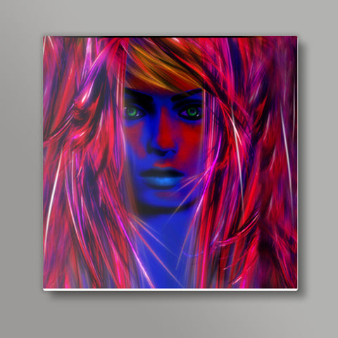 Miss psychedelic! Square Metal Prints | Artist : Jessica Maria