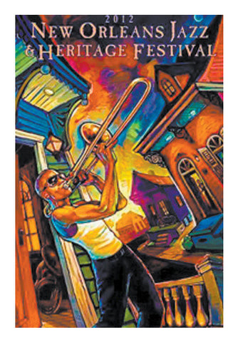 Original New Oreleans Jazz Fest Music Poster Art PosterGully Specials