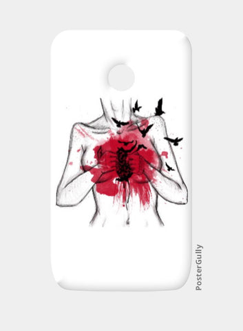 Moto E Cases, Heart Less Moto E Case | Artist: Anahat Kaur, - PosterGully