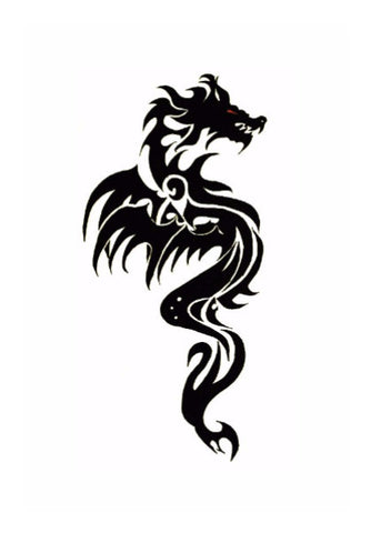 Wall Art, Dragon Tattoo | Artist: Abhinav Moona, - PosterGully