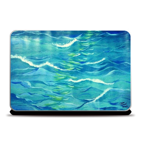 WAVES PAINTING Laptop Skins | Artist : Pallavi Rawal