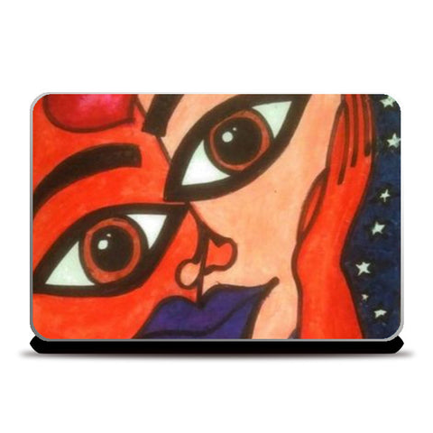 Faces Laptop Skins | Artist : Khwabeeda