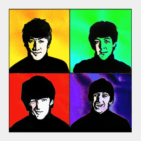 Square Art Prints, the beatles Square Art Prints | Artist : Pritika Uppal, - PosterGully