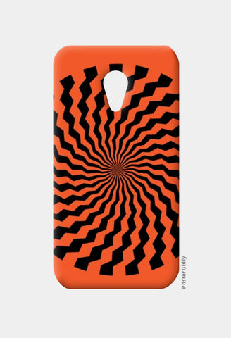 Moto G2 Cases, ILLUSION-ORANGE Moto G2 Cases | Artist : Sonia Punyani, - PosterGully