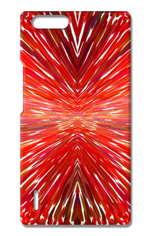 Abstract Red Burst Modern Design Huawei Honor 6X Cases | Artist : Seema Hooda