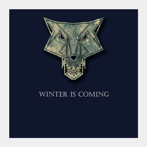 winter is coming Square Art Prints | Artist : Nazria Banu