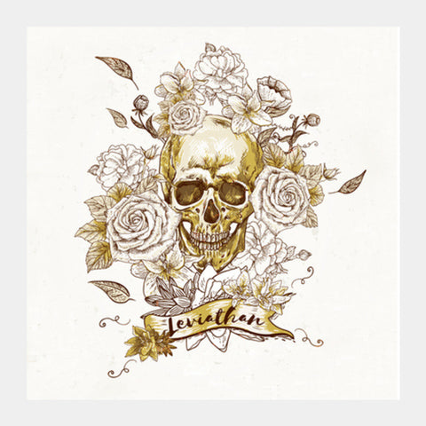 Skulls and Roses Square Art Prints | Artist : Vaishak Seraphim