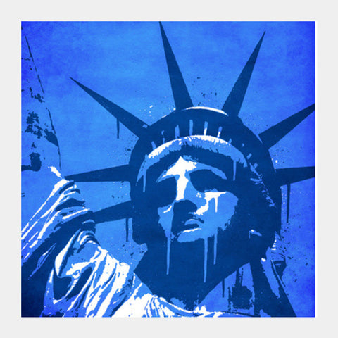 Square Art Prints, Liberty of New York Square Art Prints | Artist : Durro Art, - PosterGully