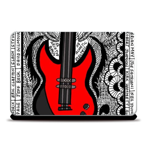 Laptop Skins, GUITAR IS RAD Laptop Skin | Aishwarya Menon, - PosterGully