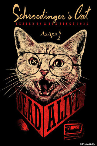 Brand New Designs, Schrondingers Cat | By Captain Kyso, - PosterGully - 1