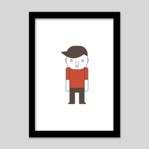 Cartoon Young Sad Guy Premium Italian Wooden Frames | Artist : Mani ...