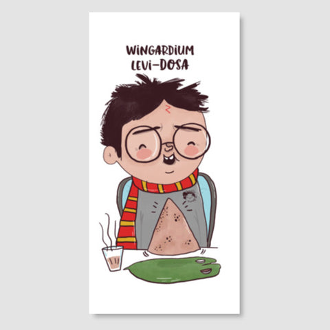 Harry Potter & Dosa Door Poster | Artist : Doodleodrama