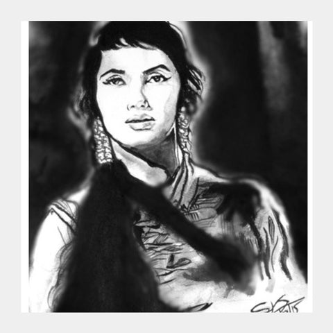 Square Art Prints, Memorable Sadhna Square Art Prints | Artist : Draw On Demand, - PosterGully
