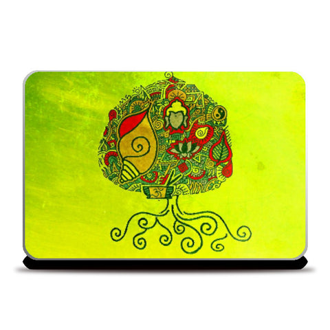Laptop Skins, Bodhi Tree Zenscrawl Laptop Skin | Meghnanimous, - PosterGully