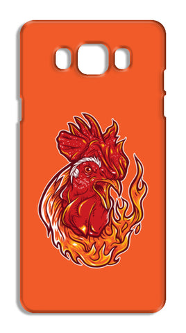 Rooster On Fire Samsung Galaxy J7 2016 Cases | Artist : Inderpreet Singh