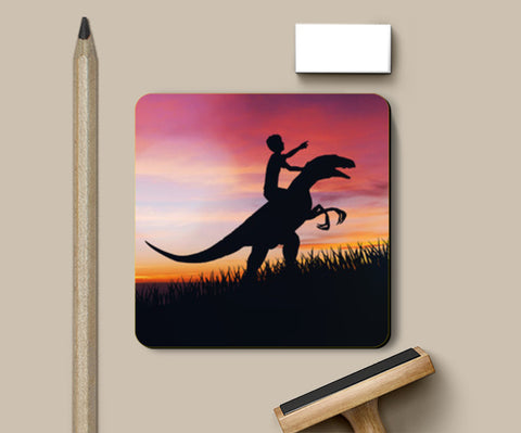 PosterGully Coasters, BOY WITH DINO Coasters | Artist : Ayush Yaduvanshi, - PosterGully