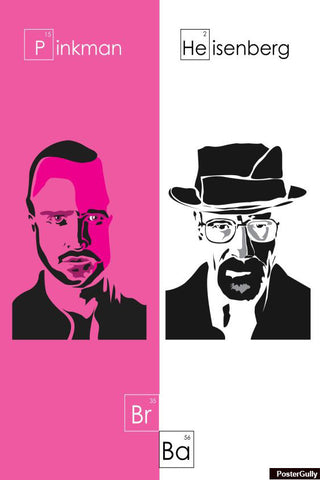 Wall Art, Pink And White Breaking Bad Artwork | Artist: Soumyajuoti Dey, - PosterGully