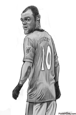 Brand New Designs, Wayne Rooney Caricature Artwork | Artist: Sri Priyatham, - PosterGully - 1