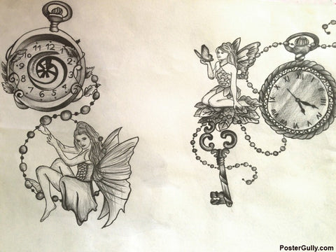 Brand New Designs, Two Clock Angles Artwork | Artist: Pallavi Dahiya, - PosterGully - 1